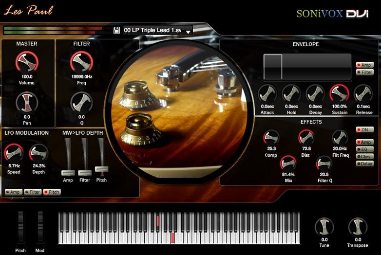 SONiXOX Les Paul Guitar , vsti sonivox vsti plugins, Les Paul, Guitar