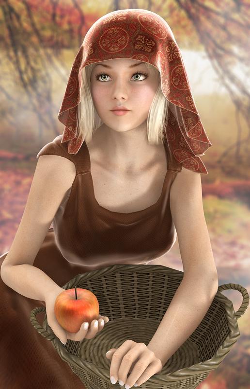 fantasy-pomme-beau-visage